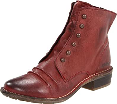 Kickers Women's Georges Ankle Boot,Burgandy,37 EU/6.5 M US