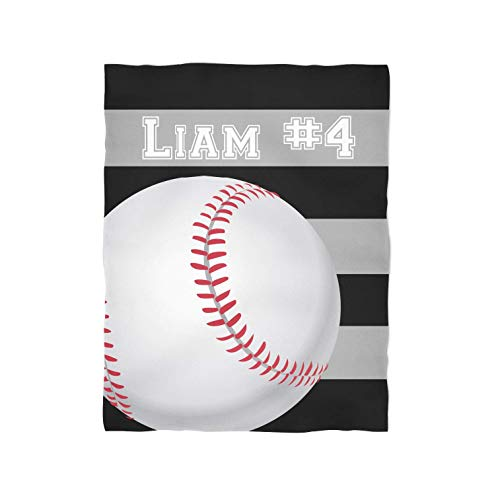 Baseball Personalized Throw Blanket