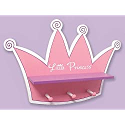 Trend Lab Little Princess Tiara Shelf with Pegs Perfect Deocr for Nursery