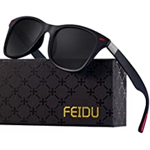 Polarized Wayfarer Sunglasses for Men - FEIDU HD Vision Polarized Sunglasses Mens FD2150