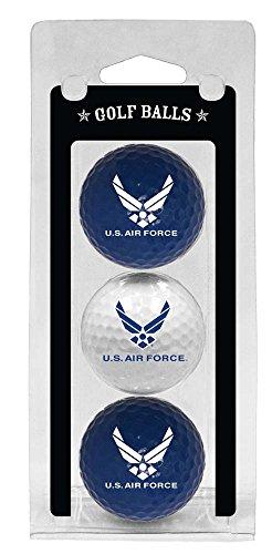 Team Golf Military Air Force Regulation Size Golf Balls, 3 Pack, Full Color Durable Team Imprint