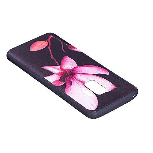 Grandcaser Funda para Samsung Galaxy S9,Ultra Fina Slim Flexible Duradera Protectora Funda Estuche de Silicona TPU Gel Original Goma Grip Bumper Design Carcasa - Búho marrón Loto