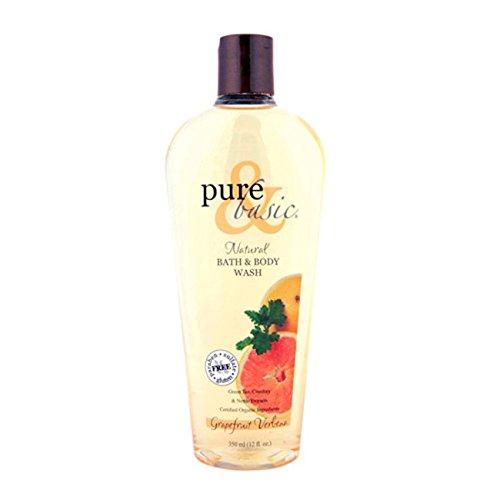 Pure & Basic Natural Bath and Body Wash Grapefruit Verbena -- 12 fl oz
