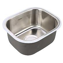 YaeKoo Undermount 18 Gauge Single Bowl Stainless Steel Bar Sink