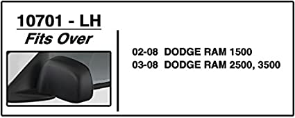 CIPA 10700 Dodge Custom Pair Towing Mirrors