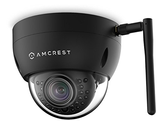 Amcrest ProHD Fixed Outdoor 3-Megapixel (2304 x 1296P) Wi-Fi Vandal Dome IP Security Camera – IP67 Weatherproof, IK10 Vandal-Proof, 3MP (1080P/1296P), IP3M-956B (Black) (Renewed)