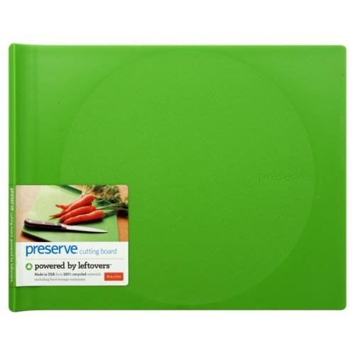 (Preserve 14 x 11 Inch Cutting Board Made from Recycled Plastic, Green by Preserve)
