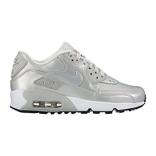 wholesale dealer 16369 5c4e6 NIKE Air Max 90 LTR GS Running Shoe (7Y M US Big Kid, Mtlc