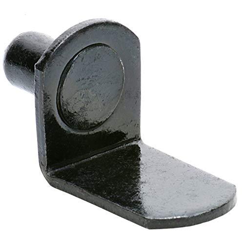 "1/4"" Bracket Style Cabinet Shelf Support Pegs - Black - 25 Pack"