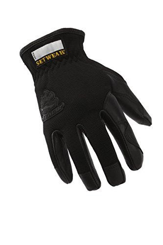 SetWear Pro Leather Gloves, Pair Medium (Size 9) Approximatly 3.5-4