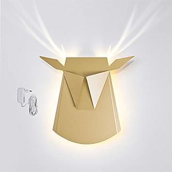 Amazon.com: Popup Lighting Elegant Aluminium Wall LED Light Deer ...
