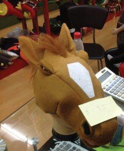 Horse Head Hat (Horse Hat - Plush Horse Head Hat)