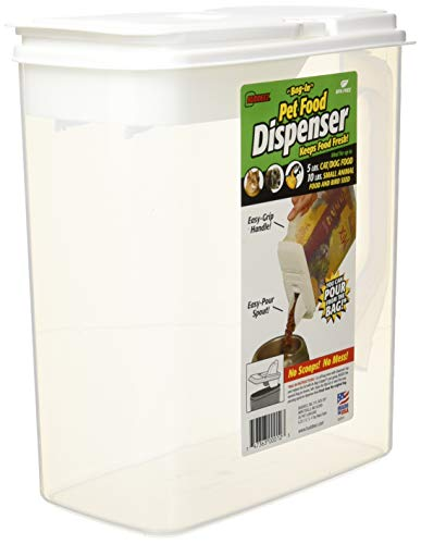Buddeez 6-Quart Dispenser for Pet Food and Bird ()