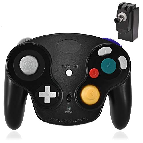 Gamecube Controller Wireless, 2.4G Wireless Gamecube Controllers Gamepad for Nintendo Wii u Gamecube with Receiver Adapter