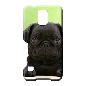 samsung galaxy s5 High Awesome Protective Stylish Cases cell phone carrying covers black pug puppy