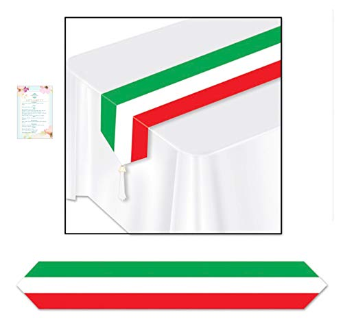 Three Paper Italian Table Runners (with Party Planning Checklist)