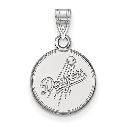MLB Los Angeles Dodgers Sterling Silver MLB LogoArt Los Angeles Dodgers Small Pendant Size One Size ()