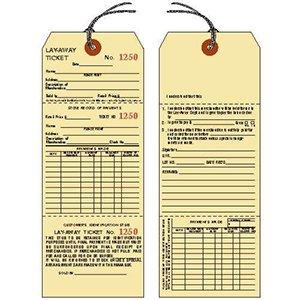 American # 52306, Lay-Away 2 Sided, 2 Tickets, Manila Service Tags, Manila Service Tags (500 per Box) by American Store Supply