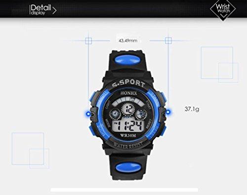 Malloom Moda Impermeable Niños Niñas natación Deportes Silicona Digital Reloj de Pulsera (Azul): Amazon.es: Relojes