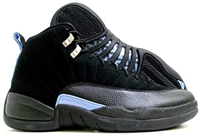 quite nice f769b 04cd8 Jordan Nike Air 12 Retro XII Black/Blue Mens Basketball Shoes 130690-018