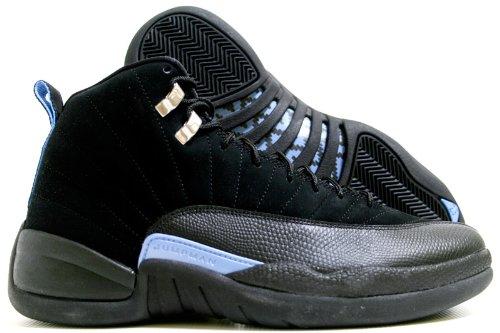 quite nice fa2ab 4897b Jordan Nike Air 12 Retro XII Black/Blue Mens Basketball Shoes 130690-018