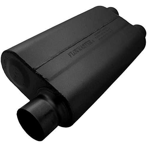 Flowmaster 9430512 50 Delta Flow Muffler - 3.00 Offset IN / 2.50 Dual OUT - Moderate Sound