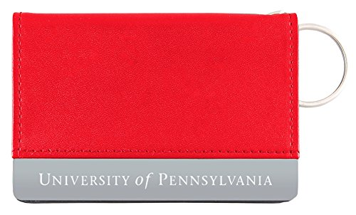 University of Pennsylvania - Leather ID Holder - Red -