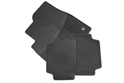 GM Accessories 22759927 Front and Rear All-Weather Floor Mats in Jet Black with ATS Logo by General Motors (Image #1)