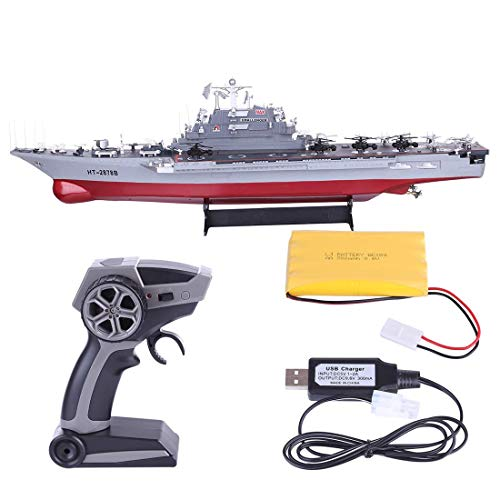 Remote Control Battle Ship, 1:360 2.4G RC Large Combat Aircraft Carrier Marine Warship Model