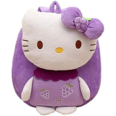 PLUSH BACKPACK Soft Plush Huggable Backpack for Kid Toddler - Adorable Plushie Toys and Gifts (Purple Grape): Clothing
