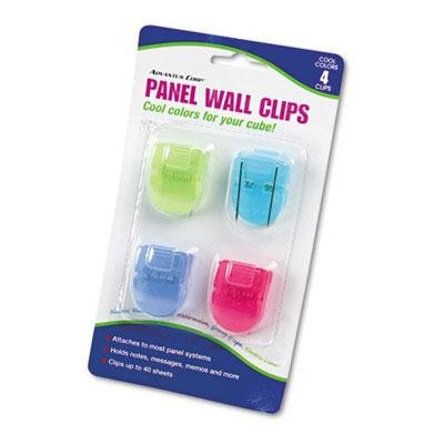 Advantus - 6 Pack - Fabric Panel Wall Clips Standard Size Assorted Cool Colors 4/Pack ''Product Category: Desk Accessories & Workspace Organizers/Wall & Panel Organizers'' by Original Equipment Manufacture