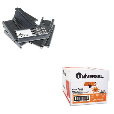 KITALESW59STUNV21200 - Value Kit - Best Wire Shelving Shelf Tag (ALESW59ST) and Universal Copy Paper (UNV21200)