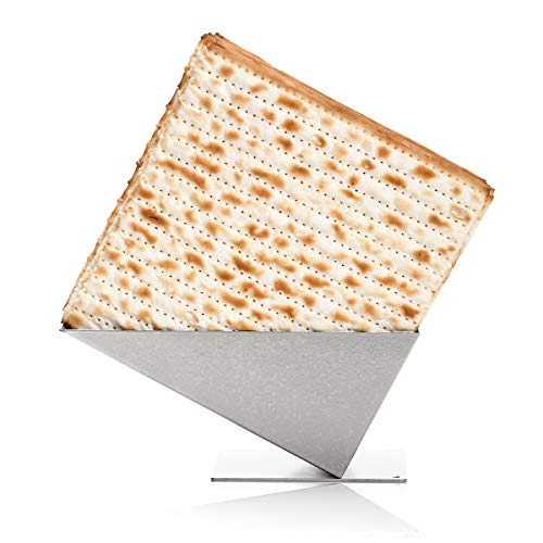 - Artori Design Matza Crackers Holder Box - Pyramid Matzah Holder, Matzah Box