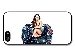Lady Gaga Wearing Glasses Sitting Chips Sofa case for iPhone 5 5S A643 by Maris's Diary