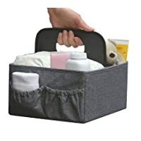 BEST FOLDABLE DIAPER & WIPES CADDY -Nursery Foldable Caddy-Portable Diaper Ch...