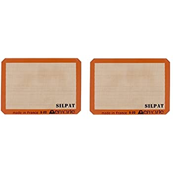 Silpat AE420295-07 Premium Non-Stick Silicone Baking Mat, Half Sheet Size, 11-5/8-Inch x 16-1/2-Inch (2 pack)
