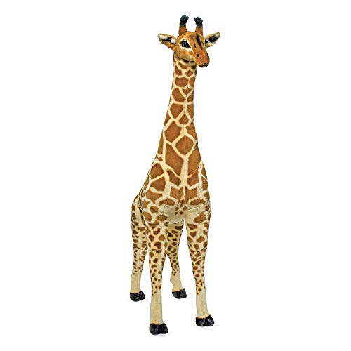 Melissa amp Doug Giant Giraffe  The Original Playspaces amp Room Decor Lifelike Stuffed Animal Soft Fabric Over 4 Feet Tall Great Gift for Girls and Boys  Best for 3 4 5 Year Olds and Up