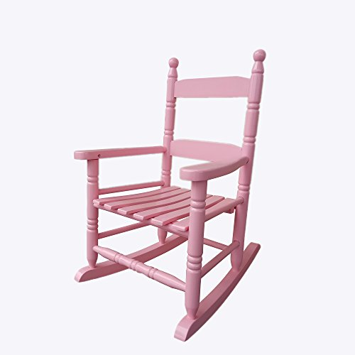 Rocking Rocker - K10PK Pink Child's Rocking Chair / porch Rocker - Indoor or Outdoor - Suitable For 1 to 4 Years Old
