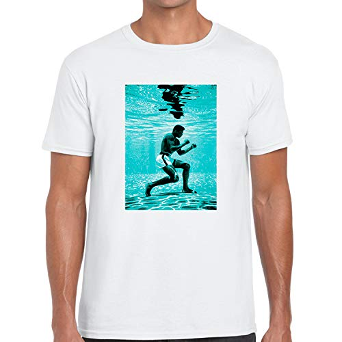 Classic Chanel Graphic T Shirt to Match Air Foamposites PRO Island Green Ali White X-Large