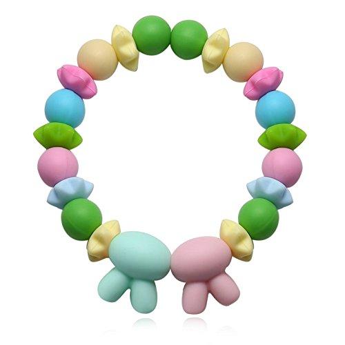 Aokarry Jewelry Unisex Silikon Women Elegant Stern Zirconia Rabbitnohren Colorful 16CM