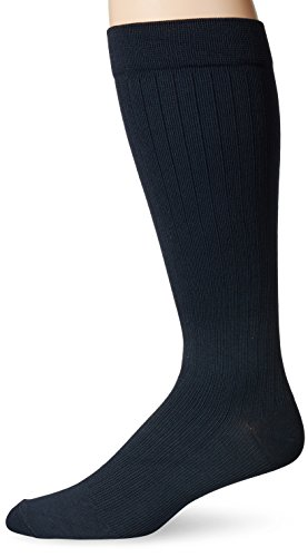 Diabetic Compression Moderate Support - Dr. Scholl's Men's Microfiber Cotton Moderate Support Socks,  Navy, Shoe: 10.5-12