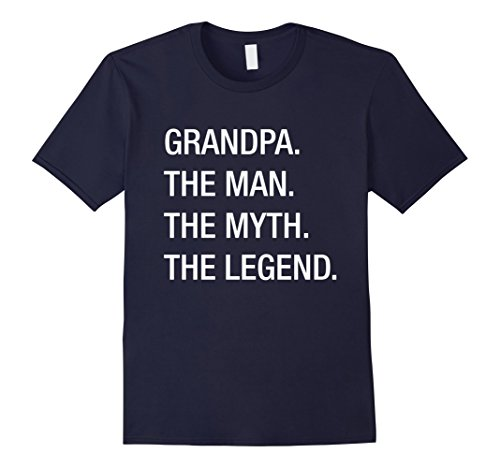 Myths And Legends Costume Ideas (Men's Grandpa The Man The Myth The Legend T-Shirt 3XL Navy)