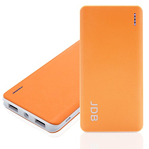 Power Bank, JDB 8000mAh Portable Fast Charging Power Bank, Dual USB Port 2.1a & 1a External Mobile Battery Charger Pack for iPhone 6 Plus/6/5S/5/4S, iPad, iPod, Samsung Galaxy, Cell Phones, Tablets (Orange-8000mAh) (8000 Power Bank compare prices)