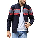 IHGTZS Sweatshirts for Men, Back-to-School Season Labor Day Halloween Casual Long Sleeve Pullover Sweatshirt Shirt Tops Men's Fashion Knitted Cardigan Sweater Blouse Fashion Pure Color Coat Gray