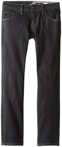 Volcom Big Boys' Riser Jeans Youth, Black Rinser, - Volcom Jean Zip Black