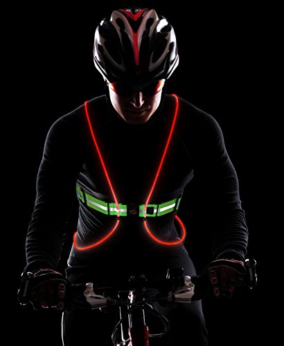 Illuminated Vest for Running or Cycling : Women & Men