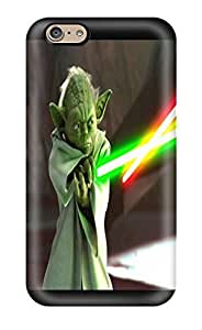 Diycase Cute Tpu DanRobertse Star Wars Attack Clones Yoda Lightsaber Sword case cover inDuLLyMRTm Cover For Iphone 6