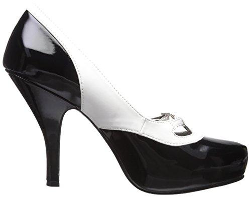 donna col Pinup tacco Couture Scarpe Nero bianco nero w1wSxP