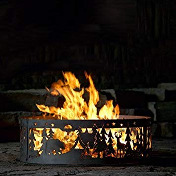 PD Metals Campfire Fire Ring - Northwoods Campground (48 in. Dia. x 12 in. - Northwoods Fire Ring
