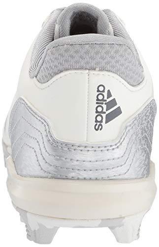adidas Icon 4, Cloud White/Silver Metallic/Grey 4.5 M US Big Kid by adidas (Image #2)